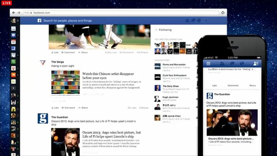 Feed de Notícias com filtro somente para suas páginas favoritas (Foto: Reprodução/Facebook)