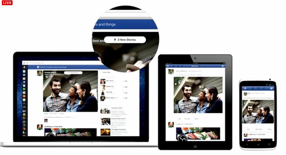 """Nova ferramenta para """"scrollar"""" mais fácil seu Feed de Notícias para as novas postagens (Foto: Reprodução/Facebook)"""