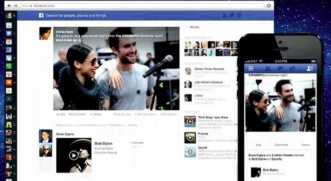 Novo Feed de Notícias ganha maior foco nas fotos e vídeos (Foto: Reprodução/Facebook)