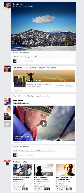 Novo Feed de Notícias terá novo layout; veja como será (Foto: Divulgação)