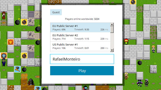 Escolha um servidor com Ping baixo para ter uma melhor resposta (Foto: Rafael Monteiro)
