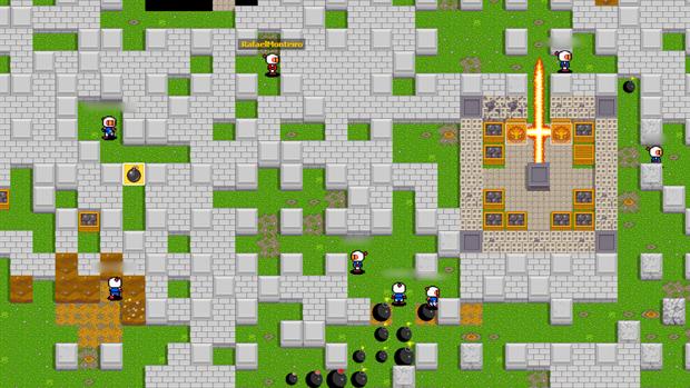 Bombermine traz o clássico multiplayer de Bomberman em um jogo online e gratuito (Foto: Rafael Monteiro)