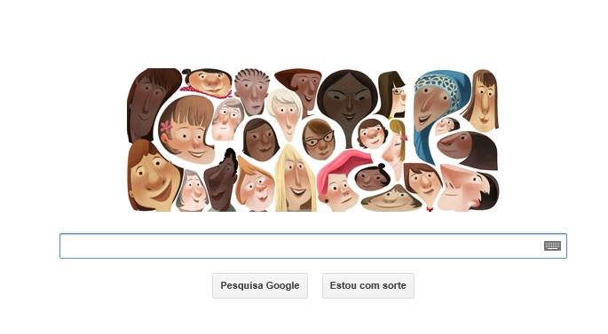Dia Internacional da Mulher é homenageado pelo Google em Doodle (Foto :Reprodução/Google)