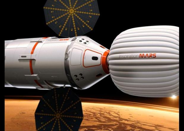 Imagem revela como deverá ser a Inspirational Mars (Foto: Reprodução)