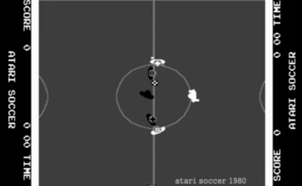 Game de futebol da Atari (Foto: Reprodução/YouTube)