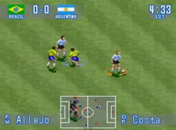 O jogo de futebol da Konami (Foto: Reprodução/YouTube)
