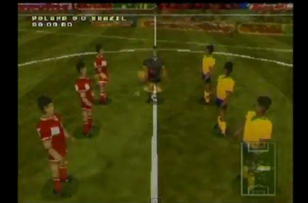 Futebol em três dimensões (Foto: Reprodução/YouTube)