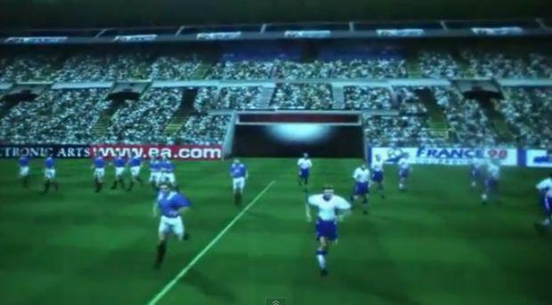 Fifa 98 trouxe as customizações de jogadores de futebol (Foto: Reprodução/YouTube)