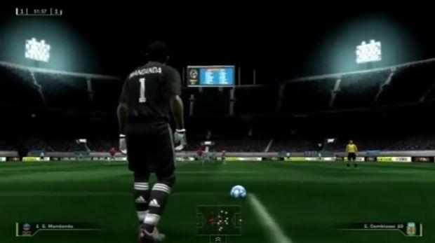 O Fifa realista, com os jogadores de 2009 (Foto: Reprodução/YouTube)