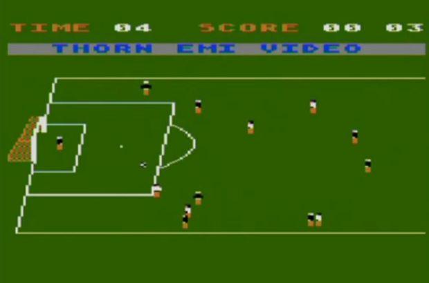 Soccer Raupisoft oferece outra perspectiva de jogo de futebol em 1982 (Foto: Reprodução/YouTube)