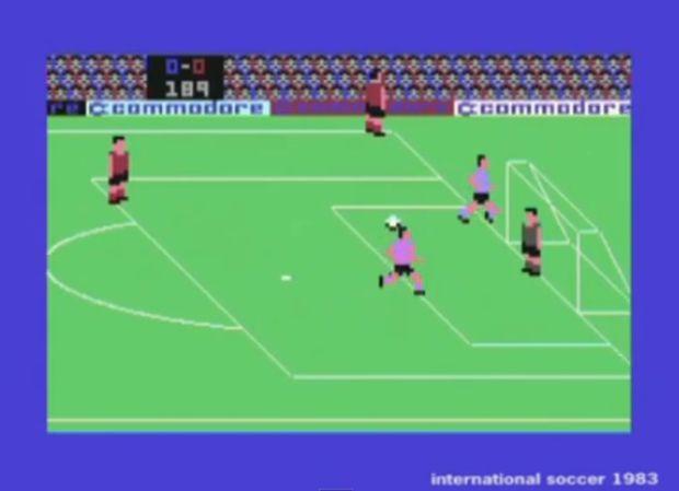 Futebol para o Commodore 64 (Foto: Reprodução/YouTube)
