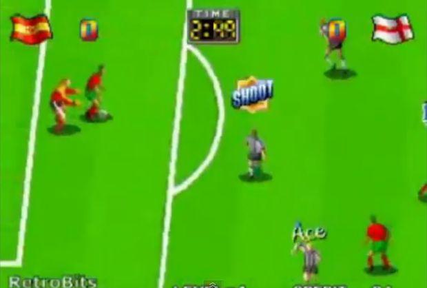 Década de 90 trouxe gráficos melhores para os jogos de futebol (Foto: Reprodução/YouTube)