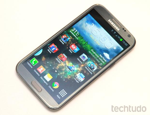 Tela do Galaxy Note 2 (Foto: Allan Melo/TechTudo)