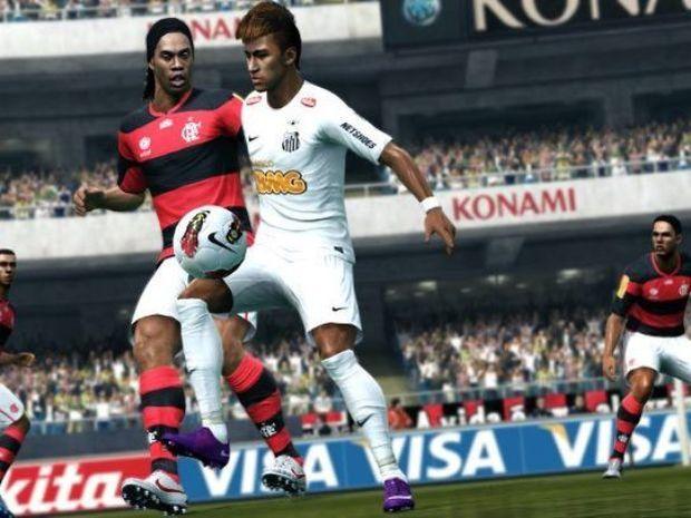 Ronaldinho Gaúcho e Neymar em PES (Foto: Divulgação)