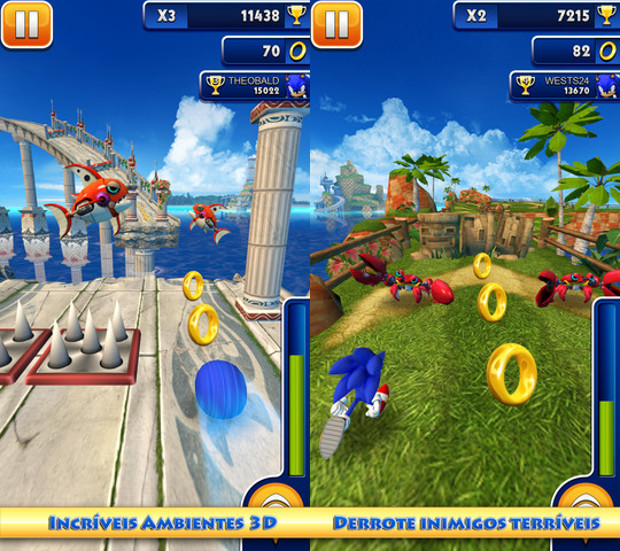 Sonic Dash é o jogo do Sonic mais bonito para iPhone, iPod Touch e iPad (Foto: Divulgação) (Foto: Sonic Dash é o jogo do Sonic mais bonito para iPhone, iPod Touch e iPad (Foto: Divulgação))