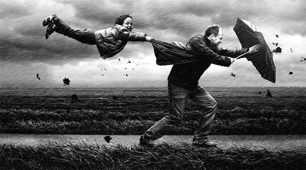 Os trabalhos do fotógrafo holandês mostram como, quando se é criança, é fácil se divertir (Foto: Divulgação/ Adrian Sommeling)