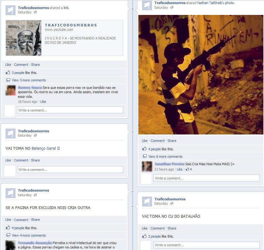 Responsável pela página desafia a Polícia em rede social (Foto: Reprodução/Facebook) (Foto: Facebook)
