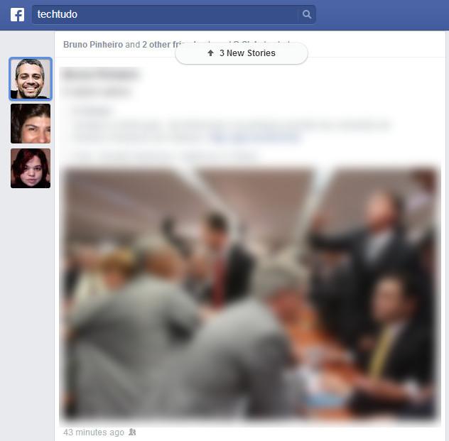Amigos que compartilharem juntos um mesmo post terão os avatares exibidos ao lado da publicação (Foto: Reprodução/TechTudo)