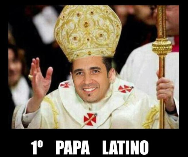 Piada faz alusão ao primeiro Papa latino (Foto: Reprodução)