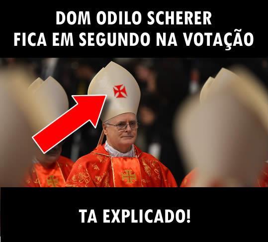 Brincadeira remete o brasileiro Dom Odilo Scherer como segunda opção (Foto: Reprodução)