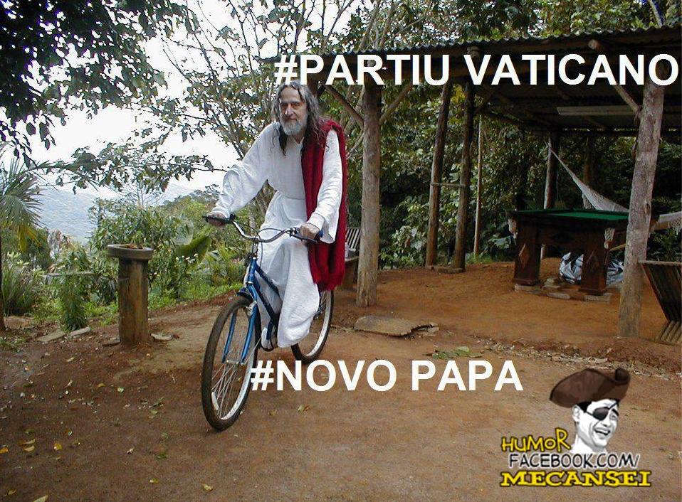 Brincadeira com Henri Cristo para se tornar o novo Papa (Foto: Reprodução)