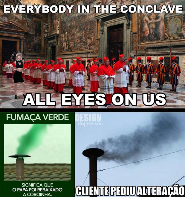 Um dos memes na escolha do novo Papa (Foto: Reprodução)