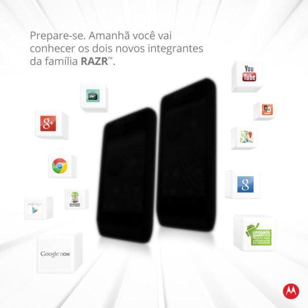 Novos modelos Razr anunciados pela Motorola no Brasil (Foto: Reprodução/Facebook)