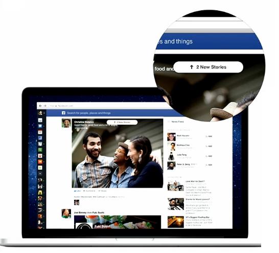 Novo feed de notícias do Facebook ganha novo layout com foco nas imagens e vídeos dos usuários (Foto: Divulgação)