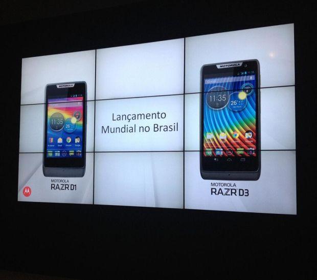 Lançamento de novos modelos Razr ocorreu primeiro no Brasil (Foto: Divulgação/Motorola)