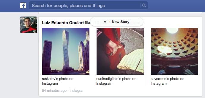 Fotos do Instagram também ganham maior tamanho na exibição no feed de notícias (Foto: Reprodução/TechTudo)