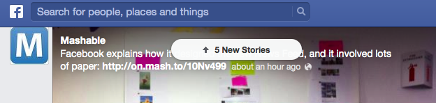 """A nova ferramenta para facilitar a navegação e eliminar o """"scrollar"""" do feed de notícias  (Foto: Reprodução/TechTudo)"""