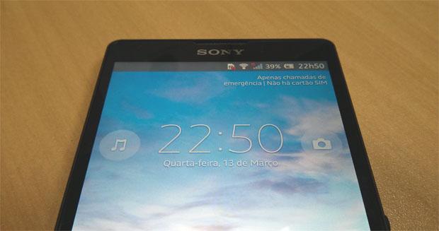 Sony Xperia ZQ e sua tela Bravia de 5 polegadas (Foto: Isadora Díaz/TechTudo)