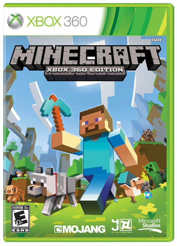 A capa oficial de Minecraft, agora em disco no Xbox 360 (Foto: Divulgação)