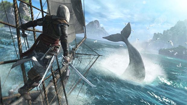 Jogador poderá caçar baleias em Assassin's Creed 4 (Foto: Divulgação)