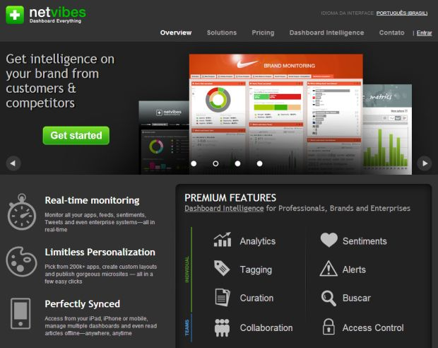 Netvibes na web (Foto: Reprodução/Netvibes)