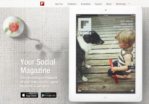 Flipboard na web (Foto: Reprodução/Flipboard)