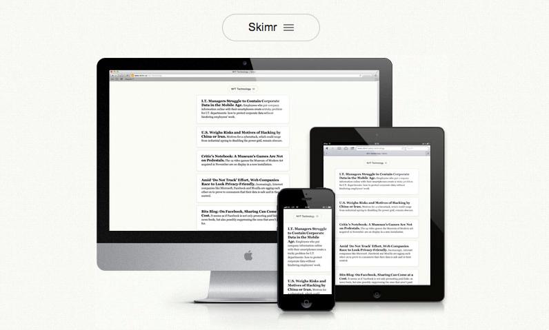 Skimr traz opção web, mobile e tablet, todos gratuitos (Foto: Reprodução)