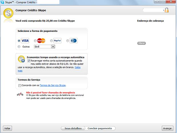 Usuário pode pagar com Paypal e cartão de crédito (Foto: Thiago Barros/TechTudo)