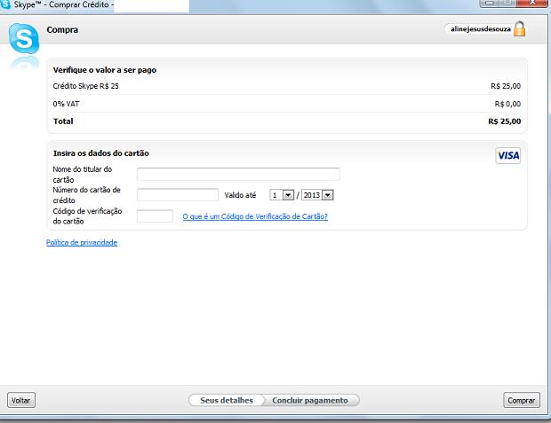 Último passo é inserir dados do cartão (Foto: Thiago Barros/TechTudo) (Foto: Último passo é inserir dados do cartão (Foto: Thiago Barros/TechTudo))