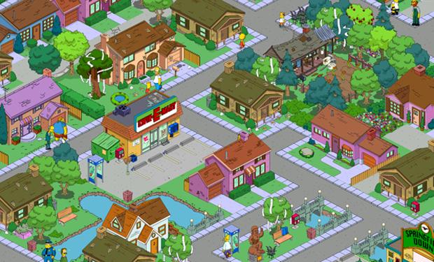 Tapped Out permite que o jogador recrie Springfield em detalhes (Foto: Divulgação)