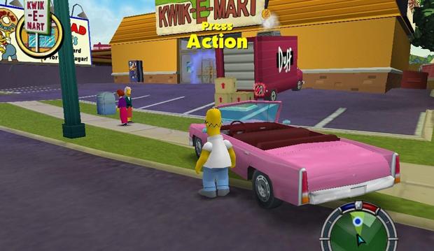 The Simpsons: Hit and Run executa muito bem o estilo de GTA (Foto: Divulgação)