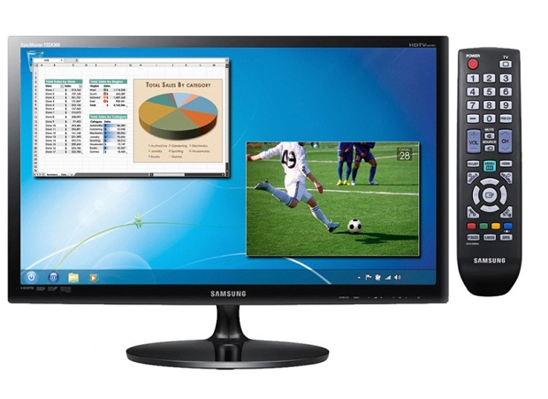 TV Samsung LED 22″ Full HD com Conversor Digital Integrado por R$ 587, 89 (Foto: Reprodução / Zoom)