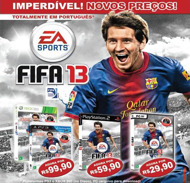 Fifa 13 recebe preço mais camarada no Brasil para X360, PS3, PS2 e PC (Foto: Divulgação)
