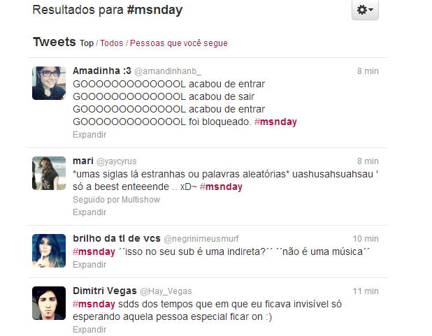 Tuiteiros demonstram saudades do MSN com hastag #msnday (Foto: Reprodução/Twitter)