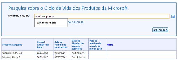 Ciclo de suporte ao Windows Phone 8 se encerra no ano que vem (Foto: Reprodução/Microsoft)