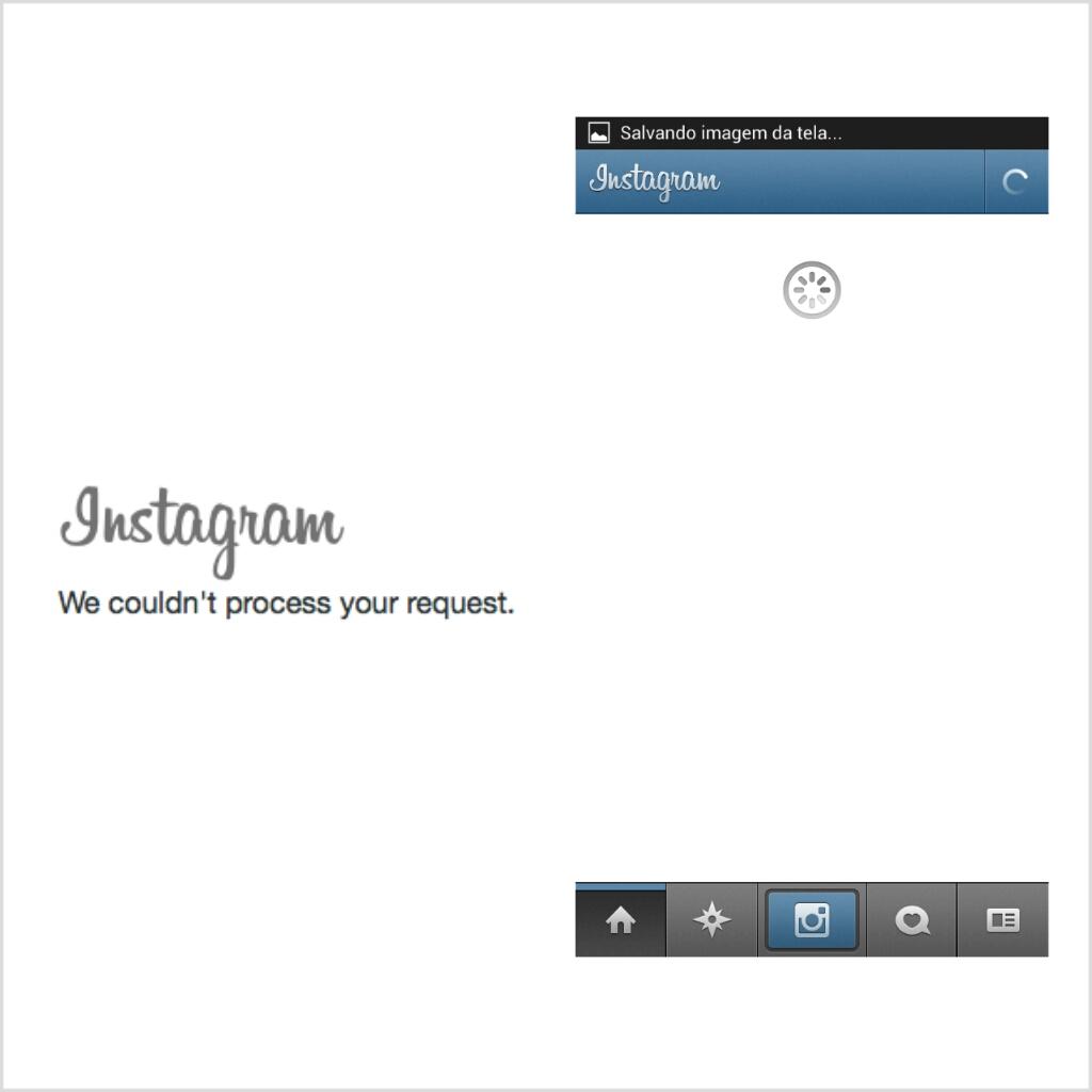 Usuários relataram problemas na conexão com o Instagram (Foto: Reprodução/TechTudo)