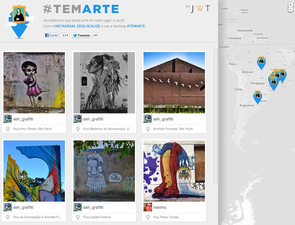 Projeto brasileiro busca arte pelo mundo no Instagram com a hashtag #TemArte (Foto: Reprodução)