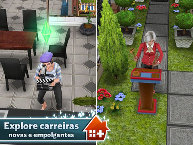 Novos jogos da EA Mobile, como The Sims FreePlay, já estão prontos para o Galaxy S4 (Foto: Divulgação)