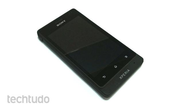 Xperia Go, o smartphone à prova d'água da Sony (Foto: Isadora Díaz/TechTudo)