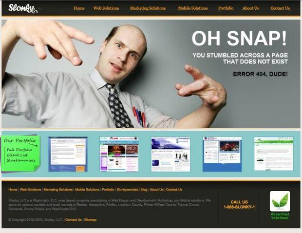 Página de erro 404 do Slonky (Foto: Reprodução/BusinessInsider)